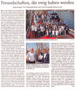SHZ-Artikel Einlaufen KUS 2014, 28.4.2014